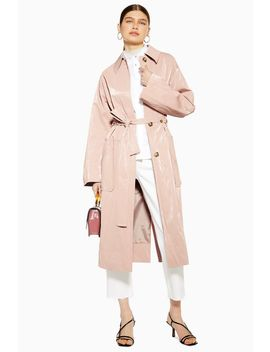 Pink Vinyl Coat by Topshop