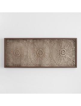 Espresso Rice Paper Shadow Box Wall Art by World Market