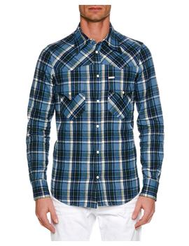 Men's Western Style Plaid Shirt by Dsquared2
