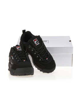 🎁 Fila Triple Black Shoes Disruptor 2 Ii Sneakers Authentic Fast Shipping by Fila