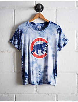 Tailgate Women's Cubs Tie Dye T Shirt by American Eagle Outfitters