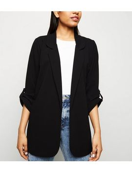 Petite Black Longline Blazer by New Look