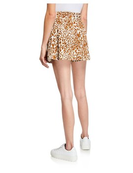 Leopard Print Belted Utility Shorts by Zimmermann