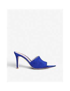 Alise 85 Suede Mules by Gianvito Rossi