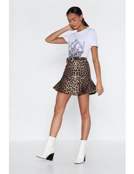 Flip It Leopard Skirt by Nasty Gal