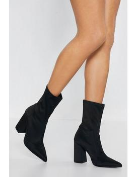 Around The Sock Heeled Boots by Nasty Gal
