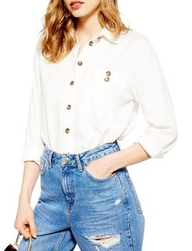 Casual Cotton Button Down Shirt by Topshop