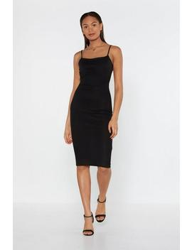 Back To You Ribbed Midi Dress by Nasty Gal