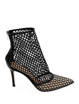 Fishnet High Heel Booties by Gianvito Rossi