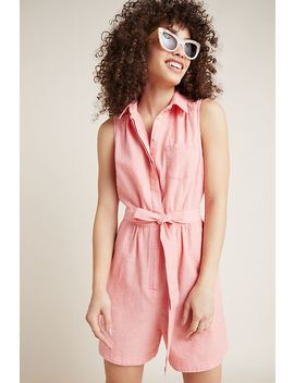 Collared Romper by Anthropologie