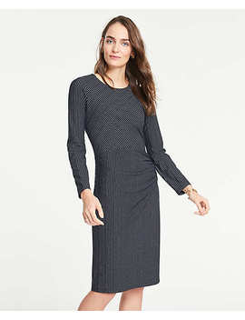 Mixed Pinstripe Knit Sheath Dress by Ann Taylor
