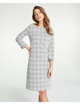 Plaid Boatneck Shift Dress by Ann Taylor