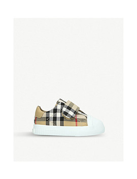 Beech Canvas And Leather Trainers 6 Months 2 Years by Burberry