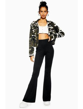 Ribbed Cupro Flares by Topshop