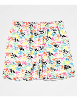 Odd Future Eyeball Elastic Waist Board Shorts by Odd Future