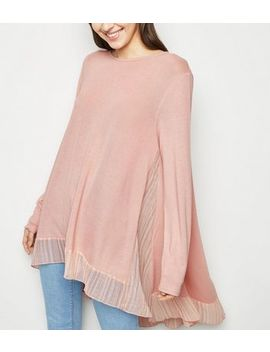 Blue Vanilla Pink Stripe Panel Top by New Look