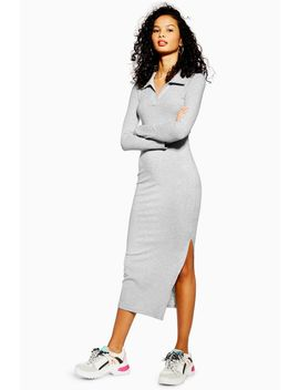 Ribbed Midi Shirt Dress by Topshop