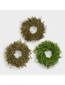 Live Herbal Wreaths, Set Of 3 by World Market