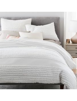 Candlewick Duvet Cover, Full/Queen, Stone White by West Elm