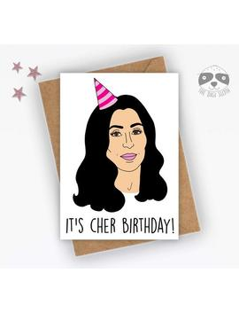 "<Span Data Inner Title="""">Funny Birthday Card, It's Cher Birthday, Funny Celebrity Card, Banter Card, 70s 80s Card, Music Card, Joke Friend Family   F070</Span> by Etsy"