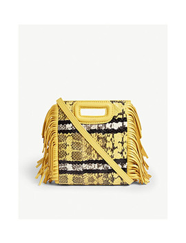 Watersnake M Mini Shoulder Bag by Maje