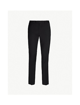 Slim Fit Straight Wool Trousers by Sandro
