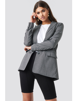 Small Check Straight Fit Blazer by Na Kd Classic