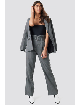 Small Check Paperbag Suit Pants by Na Kd Classic