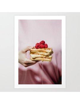 Waffles Art Print by Society6