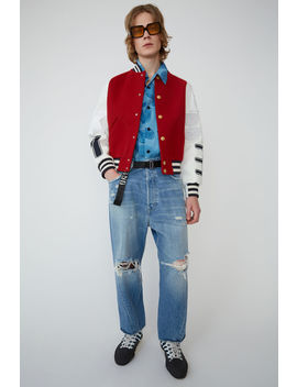 letterman-jacket-red by acne-studios