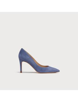 Floret Powder Blue Suede Heels by L.K.Bennett