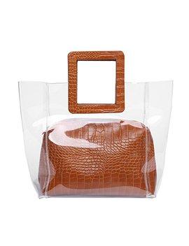 Fancy Love Classy Waterprof Clear Bucket Tote Beach Shoulder Crossbody Bag by Fancy Love