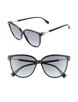 59mm Cat Eye Sunglasses by Fendi