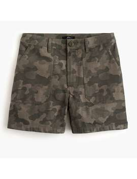 Cargo Short In Camouflage Print by J.Crew