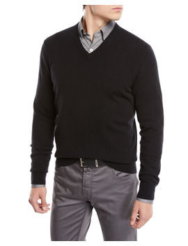 Men's Cloud Cashmere V Neck Sweater by Neiman Marcus
