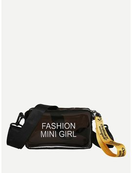 Guitar Strap Clear Camera Bag by Romwe