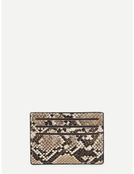 Snakeskin Pattern Card Pouch by Romwe