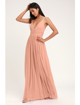 Queen Of The Evening Blush Pink Maxi Dress by Lulus