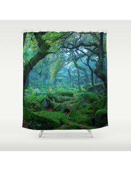 Enchanted Forest Mood Shower Curtain by Society6