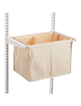 Natural Elfa Divided Hamper by Container Store