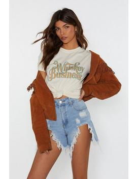 Whiskey Business Graphic Tee by Nasty Gal