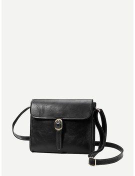 Buckle Strap Decor Flap Bag by Romwe
