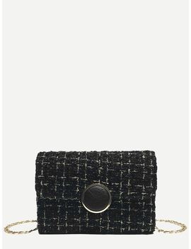 Blended Magnetic Button Chain Bag by Romwe