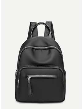 Double Pocket Front Backpack by Romwe