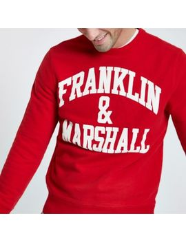 Franklin & Marshall Red Crew Neck Sweatshirt by River Island