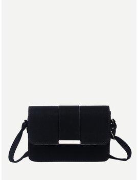 Metal Detail Flap Bag by Romwe