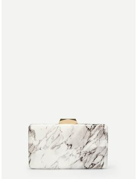 Marble Print Clutch Bag by Romwe