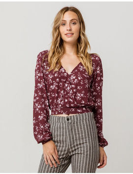 Ivy & Main Floral Surplice Womens Top by Tilly's