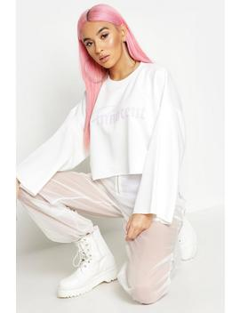 Innocent Raw Edge Cropped Sweat by Boohoo