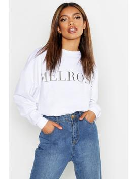 Melrose Embroidered Sweat by Boohoo